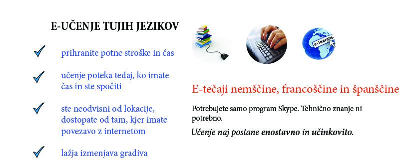 e-tečaji tujih jezikov